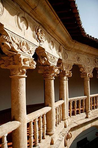 Cloister of Convento de las Dueñas, Salamanca. Castilla-León, Spain : Stock Photo