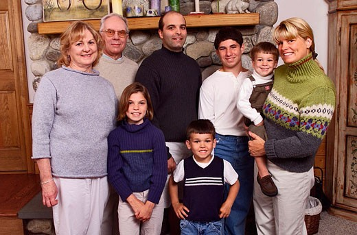 Portrait of extended family. : Stock Photo
