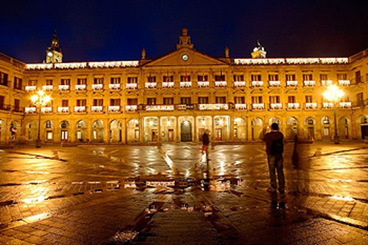 Plaza España. Vitoria, Alava. Euskadi. Spain. : Stock Photo