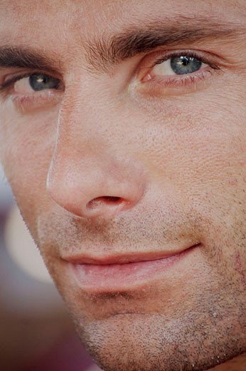 Stock Photo: 1566-355769 Close-up of a good looking man´s face