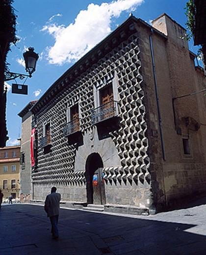 Casa de los Picos (15th century), Segovia. Castilla-León, Spain : Stock Photo