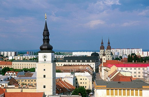 Elevated view of Trnava. Slovakia. : Stock Photo