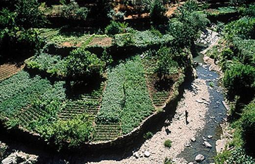 Nuñomoral. Hurdano river. Las Hurdes. Cáceres province. Extremadura. Spain. : Stock Photo