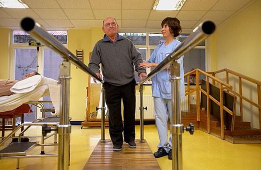 Rehabilitation. Hospital de Zumarraga, Gipuzkoa, Euskadi, Spain : Stock Photo