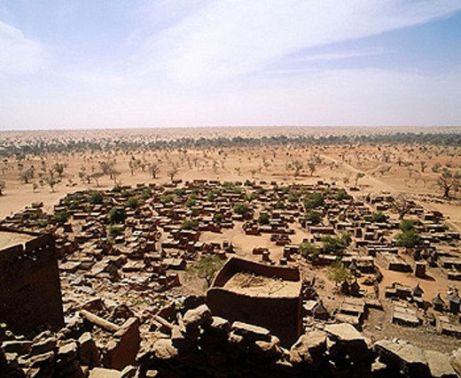 Dogon village. Sahel. Dogon land. Mali. : Stock Photo