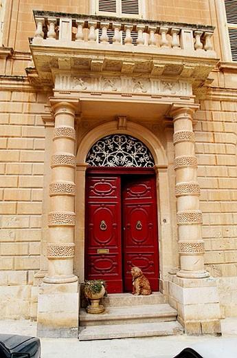 Stock Photo: 1566-359086 House-palace. Saint Paul square. Mdina. Malta