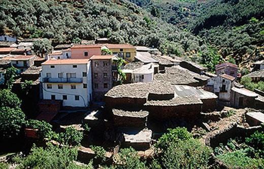 Martilandrán. Las Hurdes. Cáceres province. Extremadura. Spain. : Stock Photo