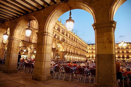 Main Square, Salamanca. Castilla-León, Spain : Stock Photo
