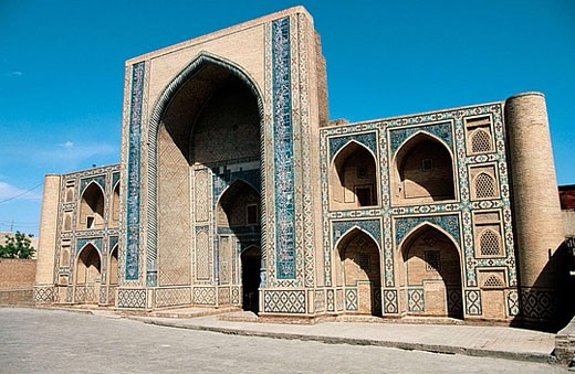 Silk road. Abdul Aziz Khan medressa. Bukhara. Uzbekistan. : Stock Photo