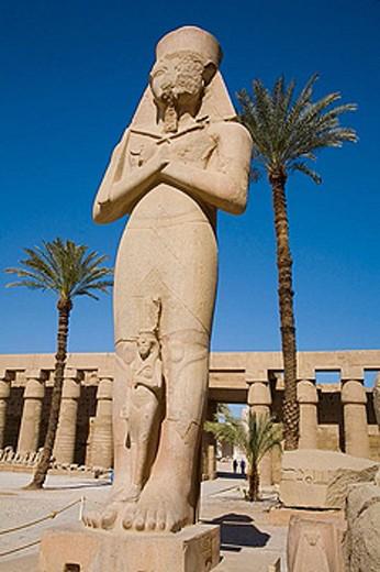 Ramses II statue. Karnak Temple. Luxor, Egypt : Stock Photo