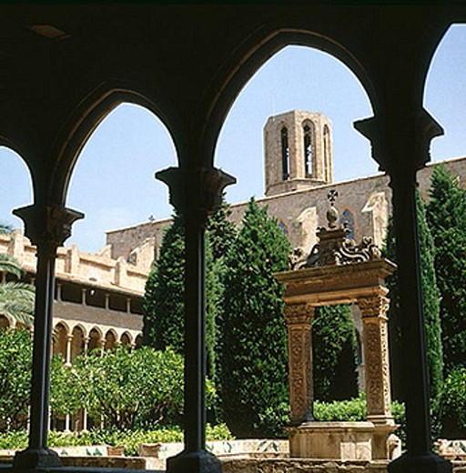 Stock Photo: 1566-362941 Pedralbes Monastery. Barcelona. Catalonia. Spain