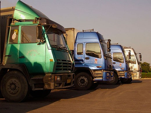 Stock Photo: 1566-363036 truck fleet in china