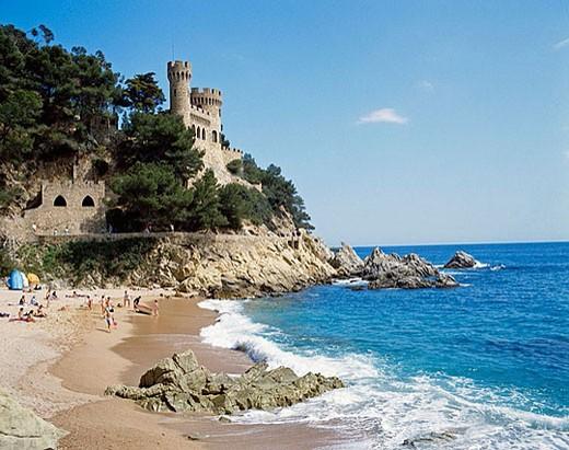 Lloret de Mar. La Selva, Girona province. Spain : Stock Photo