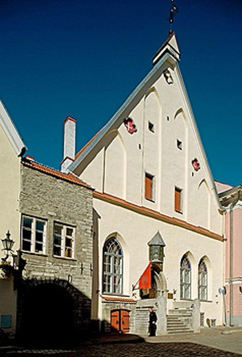 Old Town, Pikk (long street), Great Guild Hall, Historic Museum. Tallinn. Estonia. : Stock Photo