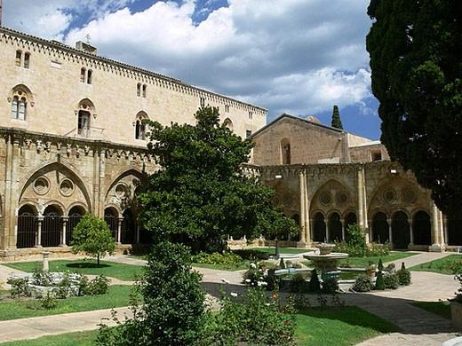Tarragona cloister, Catalunya, Spain : Stock Photo