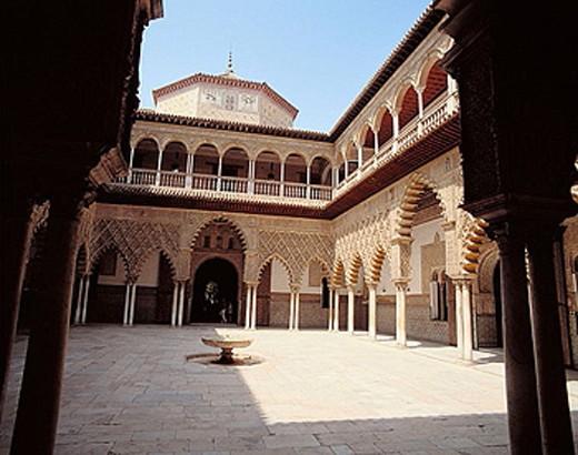 Stock Photo: 1566-367416 Patio de las Doncellas, Alcázar palace. Sevilla, Spain