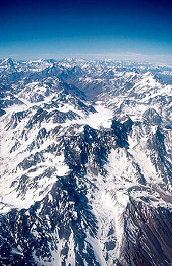 Andes mountains. Chile-Argentina border. : Stock Photo