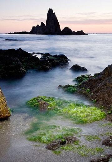 Arrecife de Las Sirenas (Mermaids Reef). Cabo de Gata - Nijar Natural Park. Almeria Province. Andalucia. Spain : Stock Photo