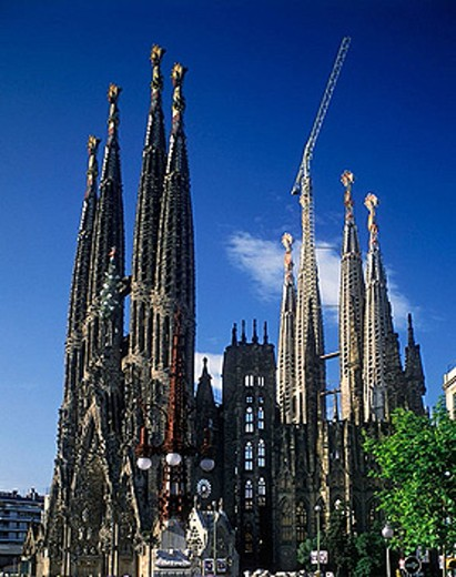 sagrada familia barcelona catalunya spain : Stock Photo