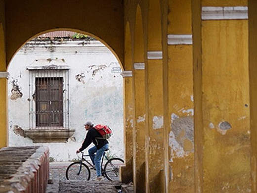 Stock Photo: 1566-369960 Colonial architectural arches in Antigua, Guatemala