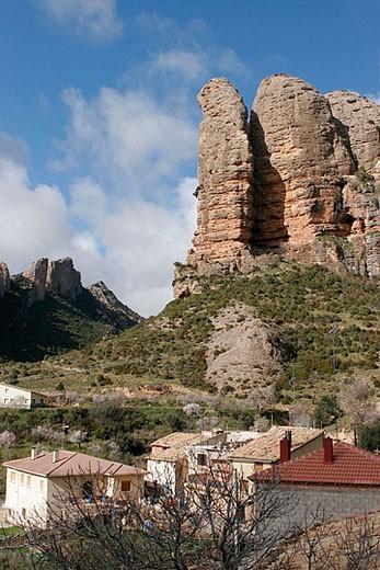 Agüero. Huesca, Aragón. Spain. : Stock Photo