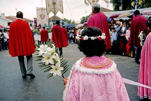 Festa das Cruzes. Viana do Castelo. Along the north bank of the Lima estuary. Minho Province. Porto e Norte region. Portugal : Stock Photo
