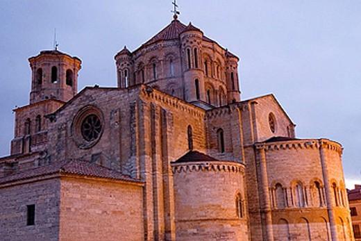 Collegiate church of Santa Maria la Mayor (12th-13th Centuries). Toro. Zamora province. Castilla y Leon. Spain : Stock Photo