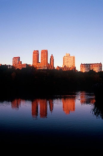 Lake at Central Park, West Manhattan, NYC. USA : Stock Photo