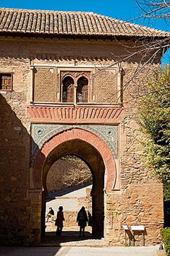 Puerta del Vino, Alhambra. Granada. Andalusia. Spain : Stock Photo