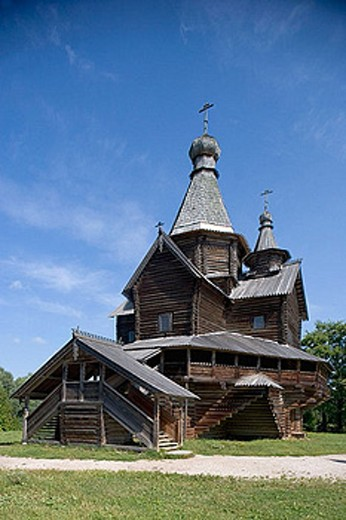 Museum of wooden architecture. Vitoslavitsy. Russia. : Stock Photo