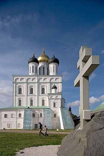 Stock Photo: 1566-370724 Holy Trinity cathedral, 1699. Kreml. Pskov. Russia.