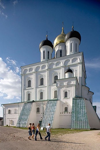 Holy Trinity cathedral, 1699. Kreml. Pskov. Russia. : Stock Photo