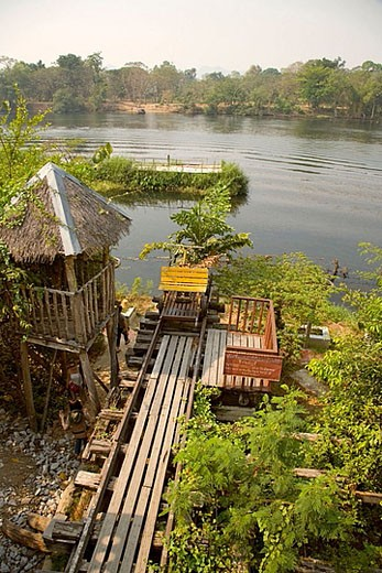 Stock Photo: 1566-370806 Death Railway Bridge. Thailand