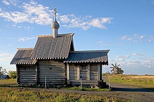 Church of the Resurrection of Lazarus, beginning of the 16th century. Kizhi Island. Onega lake, Karelia. Russia. : Stock Photo