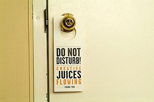 sign on door : Stock Photo