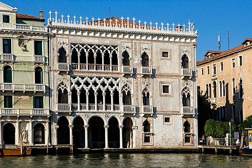 Canal Grande. The Ca´ d´Oro. Venezia (Venice). Italy. : Stock Photo