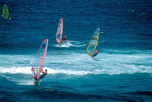 Windsurfing, Ho´okipa. Maui, Hawaii, USA : Stock Photo