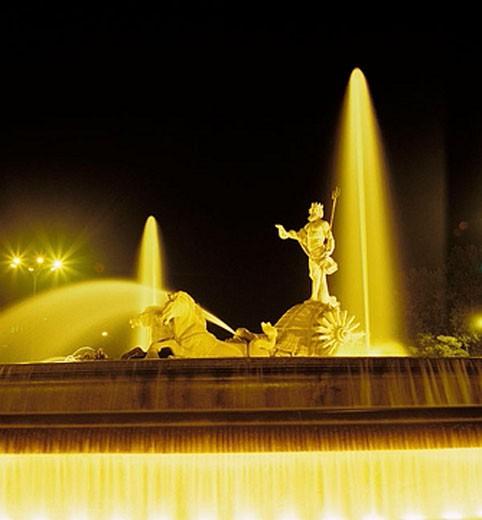 Neptune´s Fountain, Madrid. Spain : Stock Photo
