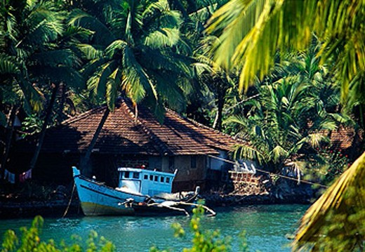 Stock Photo: 1566-374321 The fishing village of Betul. Goa. India
