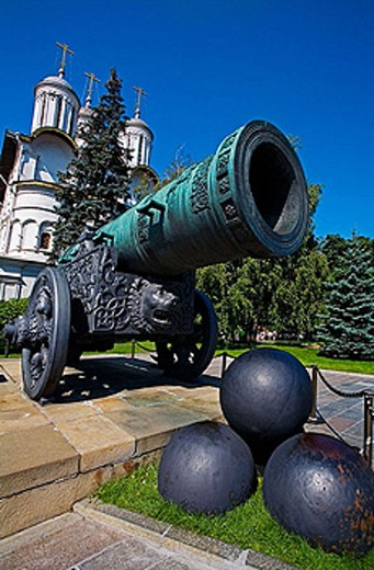 Stock Photo: 1566-374618 Tsar´s cannon. Kremlin. Moscow. Russia