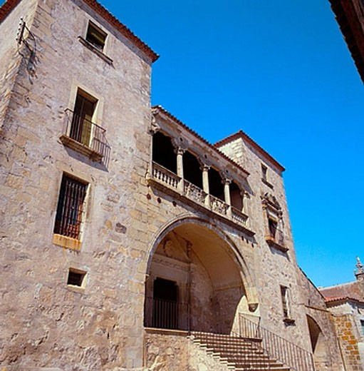 Palace of de Juan Pizarro de Orellana (16th century), Trujillo. Caceres province, Extremadura, Spain : Stock Photo