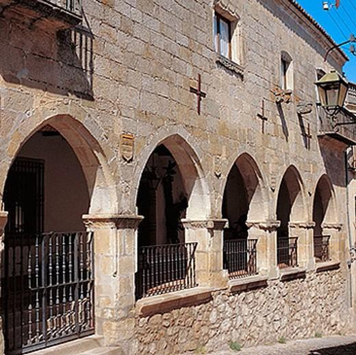 Calle de la Sangre, Trujillo. Caceres province, Extremadura, Spain : Stock Photo