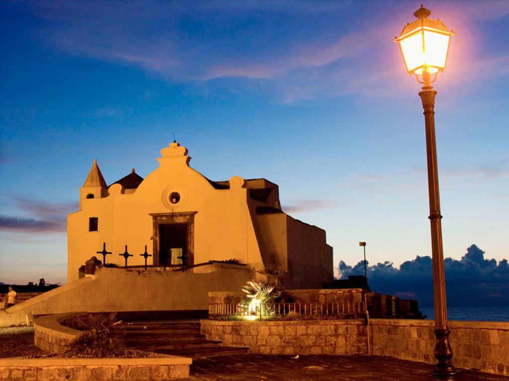 Italy, Campania, Ischia Island, Chiesa del Soccorso : Stock Photo