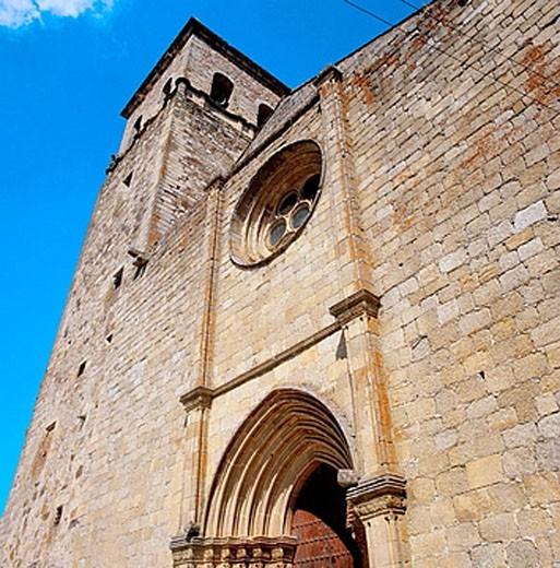 Stock Photo: 1566-374889 Church of Santa Maria la Mayor (15th-16th century), Trujillo. Caceres province, Extremadura, Spain
