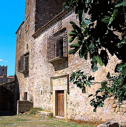 Stock Photo: 1566-374902 Palace of the Escobar (15th century), Trujillo. Caceres province, Extremadura, Spain