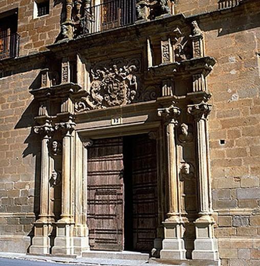 Palace of the Duke of San Carlos (18th century), Trujillo. Caceres province, Extremadura, Spain : Stock Photo