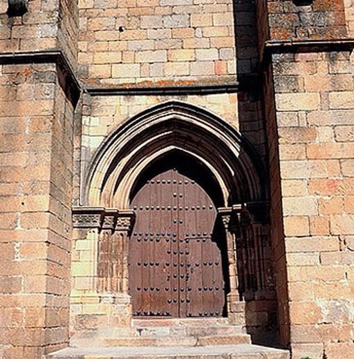 Stock Photo: 1566-374912 St. Nicholas church (13th century), Plasencia. Caceres province, Extremadura, Spain