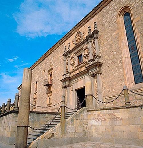 Stock Photo: 1566-375050 Façade of Colegio de Fonseca palace (1528-1578), Salamanca. Castilla-Leon, Spain