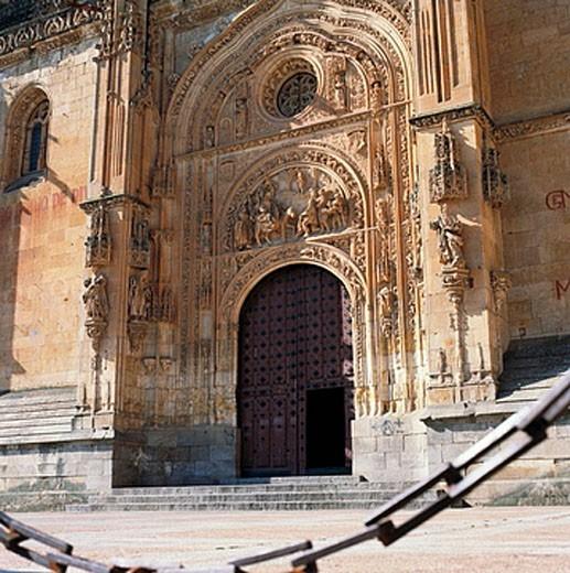 Puerta de Ramos of new cathedral (16th century), Salamanca. Castilla-Leon, Spain : Stock Photo