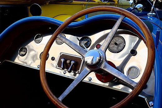 Stock Photo: 1566-375689 Talbot, Barcelona-Sitges vintage car rally. Spain.